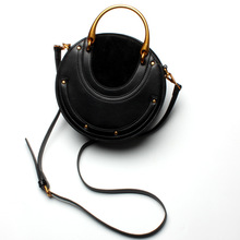 11.11 2017 Fashion Retro Leather Handbags Small Bag Luxury Rivets Ladies Shoulder Handbag Messenger Bags Womens Designer