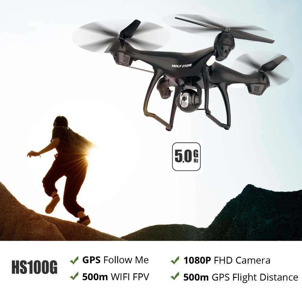 [USA Stock] Holy Stone HS100G Dual GPS 5G FPV 500M Distance 1080P Wi Fi Camera 500M Flight Distance GPS Return Home Quadcopter-in RC Helicopters from Toys & Hobbies    1