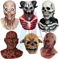 Latex Full Head Realistic Horror Demon Zombie Skull Mask Cosplay Party Costumes Theater Halloween