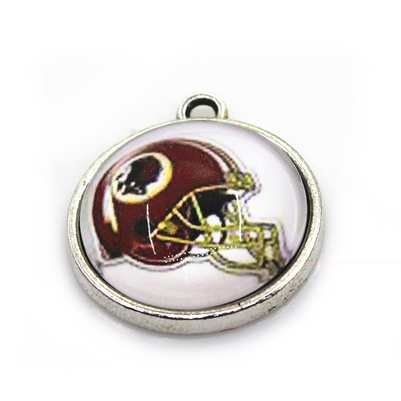 20pcslot Redskins Dangle Charms Football Team Hanging Charm Sport DIY Bracelet&Bangles Jewelry Accessory Charms