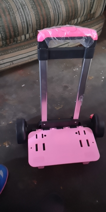 Basisschool Student Trolley Tas Accessoires Trolley Met Gesp en Zonder Gesp Twee en Zes Wielen Universele Spoorstang photo review