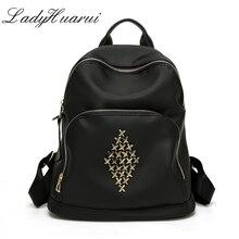 Модный стиль рюкзак для девочек школьная сумка на молнии Женщины Рюкзак Повседневная Молодежная дорожная сумка Q3