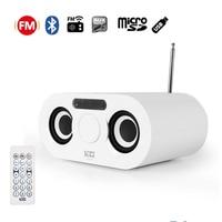 Instabox D68 FM Radio Antenna Wireless Stereo Bumping Bass Speakers Dual Speaker Bluetooth Handsfree Calls USB AUX TF Micro SD