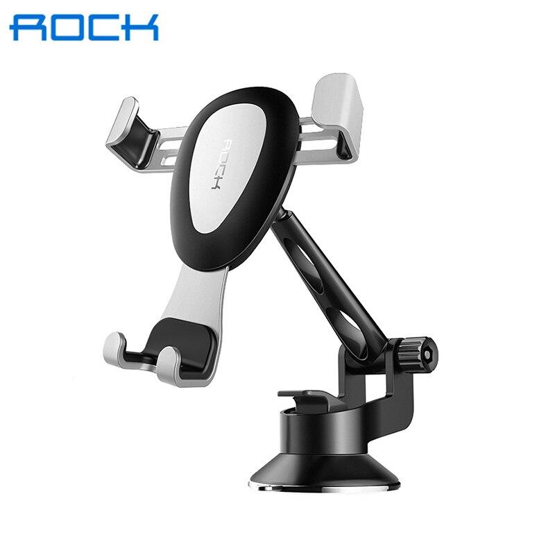 Купить со скидкой Автомобильный держатель для смартфона Rock RPH0855