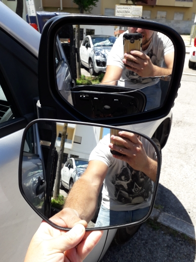 El lado izquierdo de la puerta del coche de cristal del espejo retrovisor de ala for MITSUBISHI L200 2005-2015 calienta