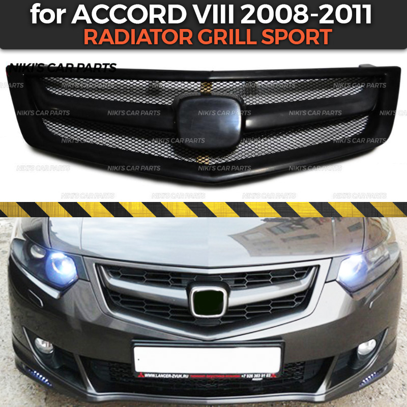 Radiator grill sport case for Honda Accord VIII 2008 2011 ABS plastic body kit aerodynamic decoration