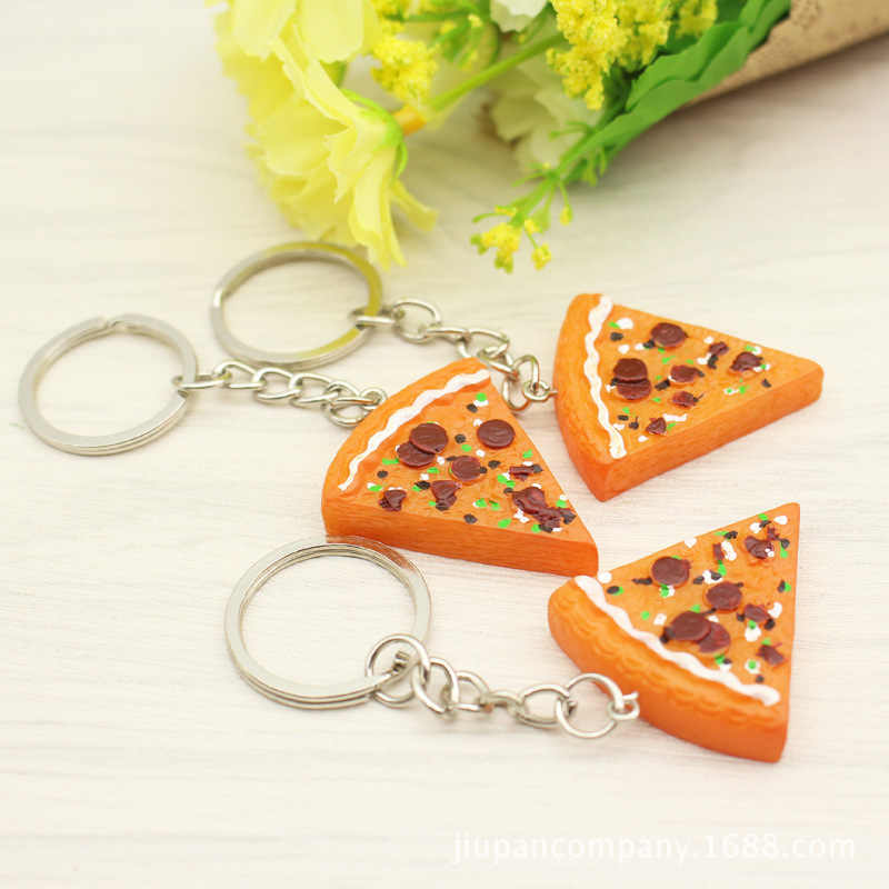 1 шт. новинка пластиковые брелки в виде пиццы мини-пицца в форме Брелки Подарки