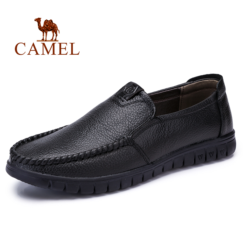 CAMEL Spring Men Shoes Leather Men s Loafers Non slip Casual Middle aged Wear resistant Soft