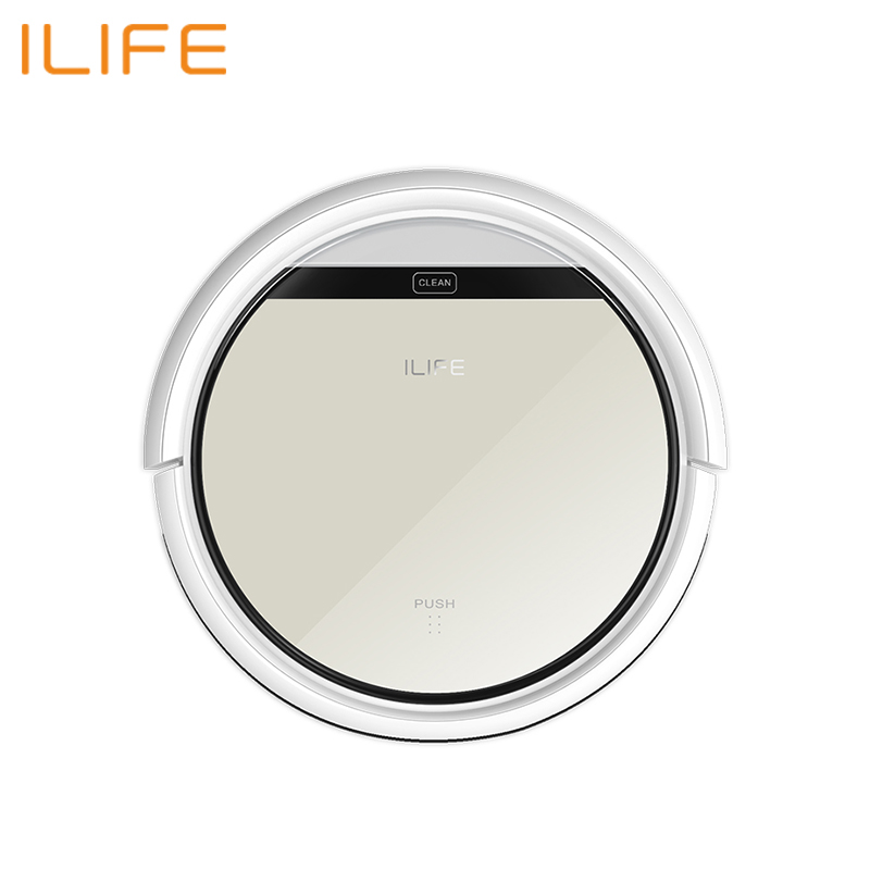 Robot Vacuum Cleaner ILIFE V50 Wireless Vacuum Cleaner Dry Cleaning For Home Automatic Suction 500 Pa Battery 2600 mAh free for russian buyer 4 in 1 multifunctional robot vacuum cleaner with virtual blocker self charging lcd touch liectroux