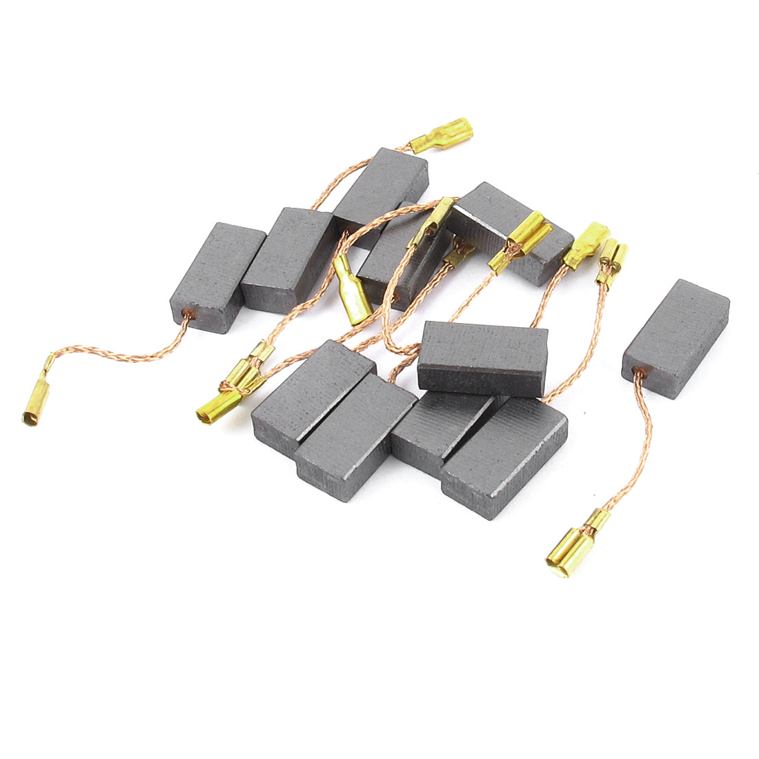 Dmiotech Hot Sale 10pcs/5 Pair 15 X 8 X 5mm Motor Carbon Brushes Replacement For Air Compressor Spare Part Power Tool