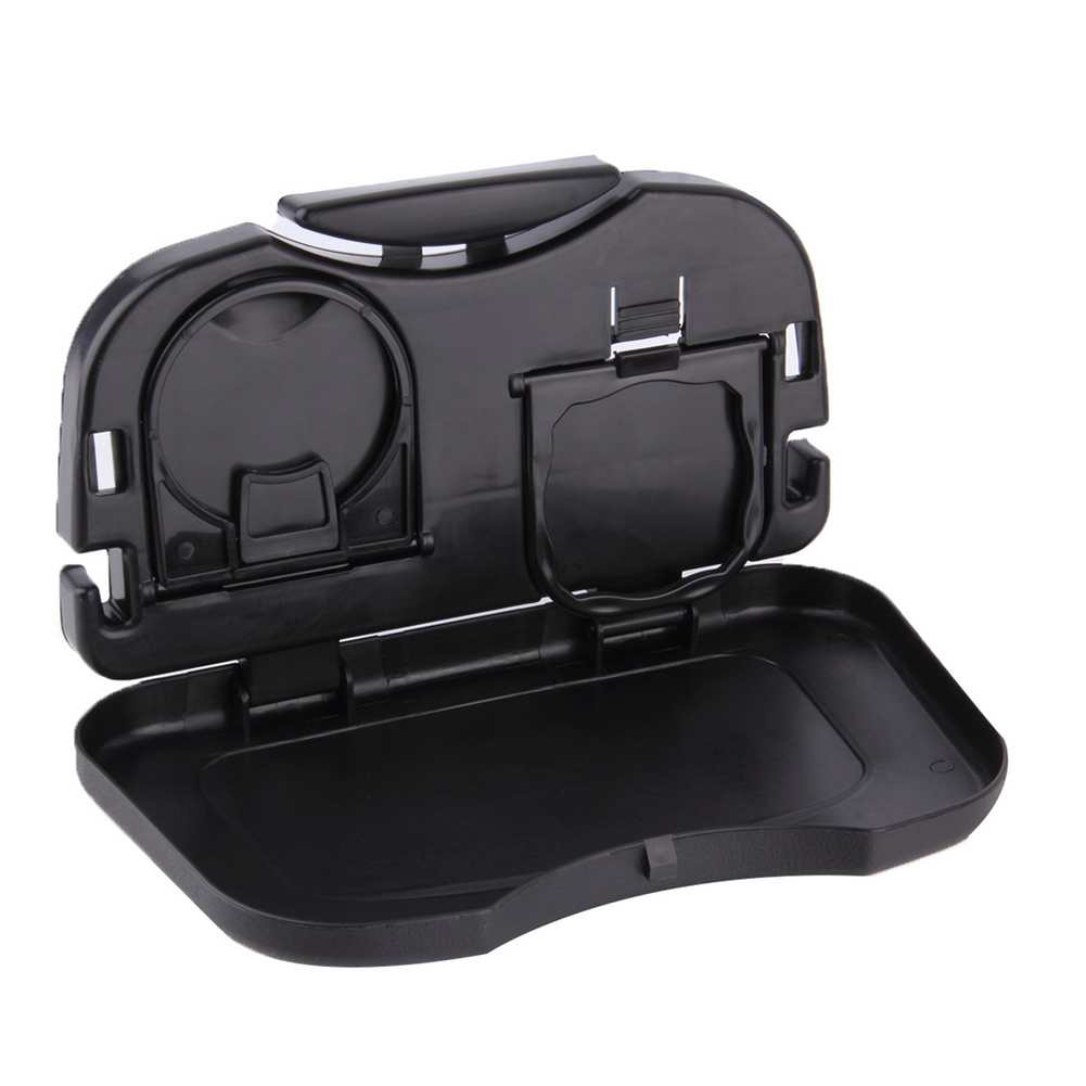Folding Auto Cup Holder Back Seat Table Drink Food Tray Travel Desk Car Accessory folding cup holder