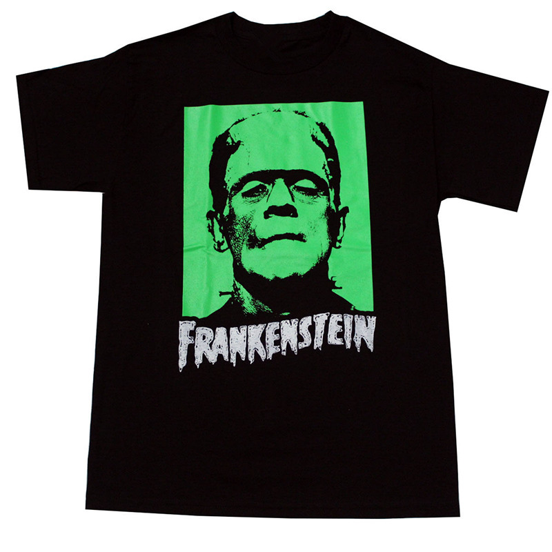 T Shirt Shop Online Crew Neck Men Short-Sleeve Best Friend Frankenstein Monster Shirts