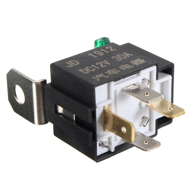 NEW DC12V 30A 4 Pins Electronic Relay Car Automotive Relay with Insurance Film Car Bike Auto Fused On/Off Relays