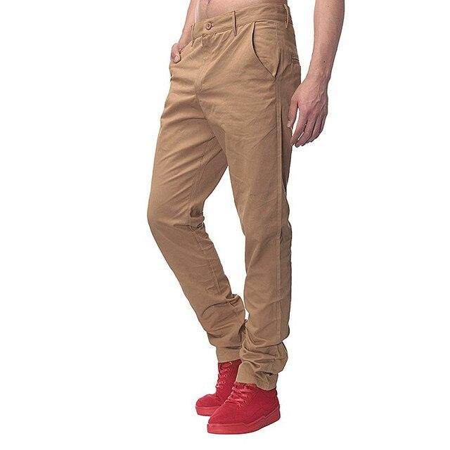 Mens puros Pantalones casual recto Pantalones cargo pantalones hombres de  alta calidad Slim otoño Pantalones de 9af679edd3b