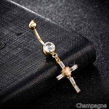 Cross Piercing Dangle Belly Button Pircing