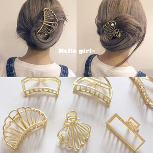 Headwear Large Retro metal Claw Shiny Hair Claws Hair Clip Shiny Crab For Women Accessories Ornaments