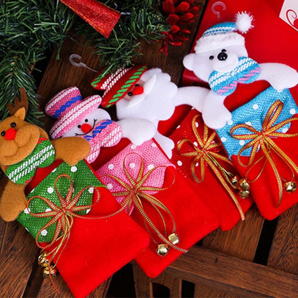Decorador de arboles de navidad 187 home design 2017 - 1 Unids Regalos De Pap Noel Colgante Del Rbol De Navidad Decoraciones Colgantes Adornos Ca Da Bolsas