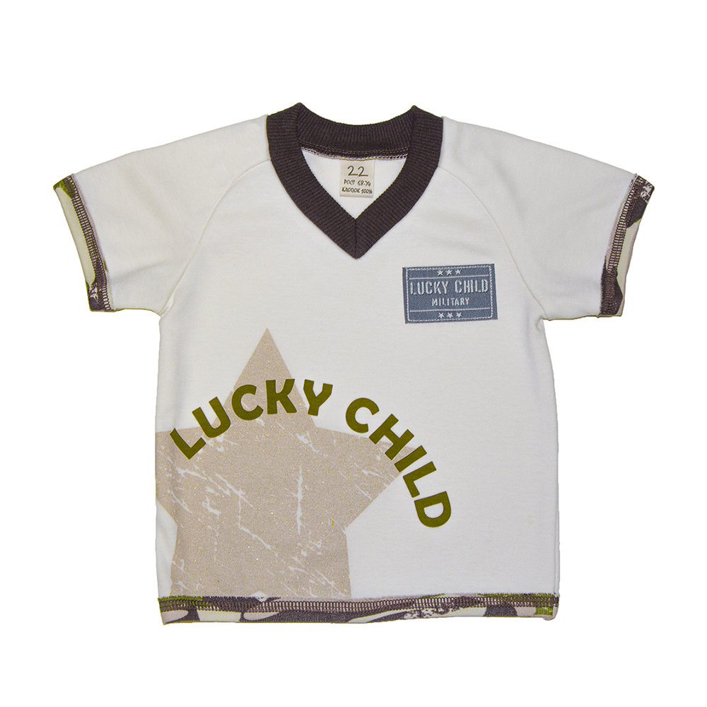 T-Shirts Lucky Child for girls and boys 31-262 Top Baby T Shirt Kids Tops Children clothes projector lamp et lac75 for panasonic pt lc55u pt lc75e pt lc75u pt u1s65 pt u1x65 with japan phoenix original lamp burner
