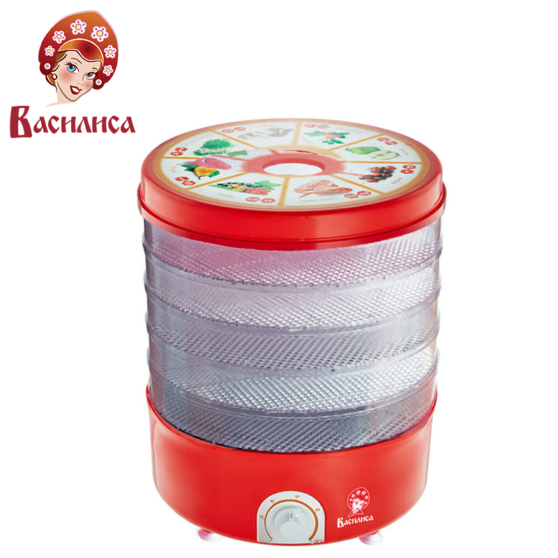 VASILISA CO3-520 clara Secador elétrico para frutas e legumes 520 W Temperatura ajuste Anti-slip de borracha pés