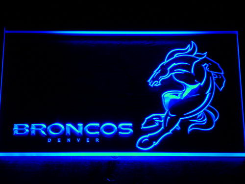 128 Denver Broncos Football Club Bar LED Neon Sign with On/Off Switch 7 Colors 4 Sizes to choose