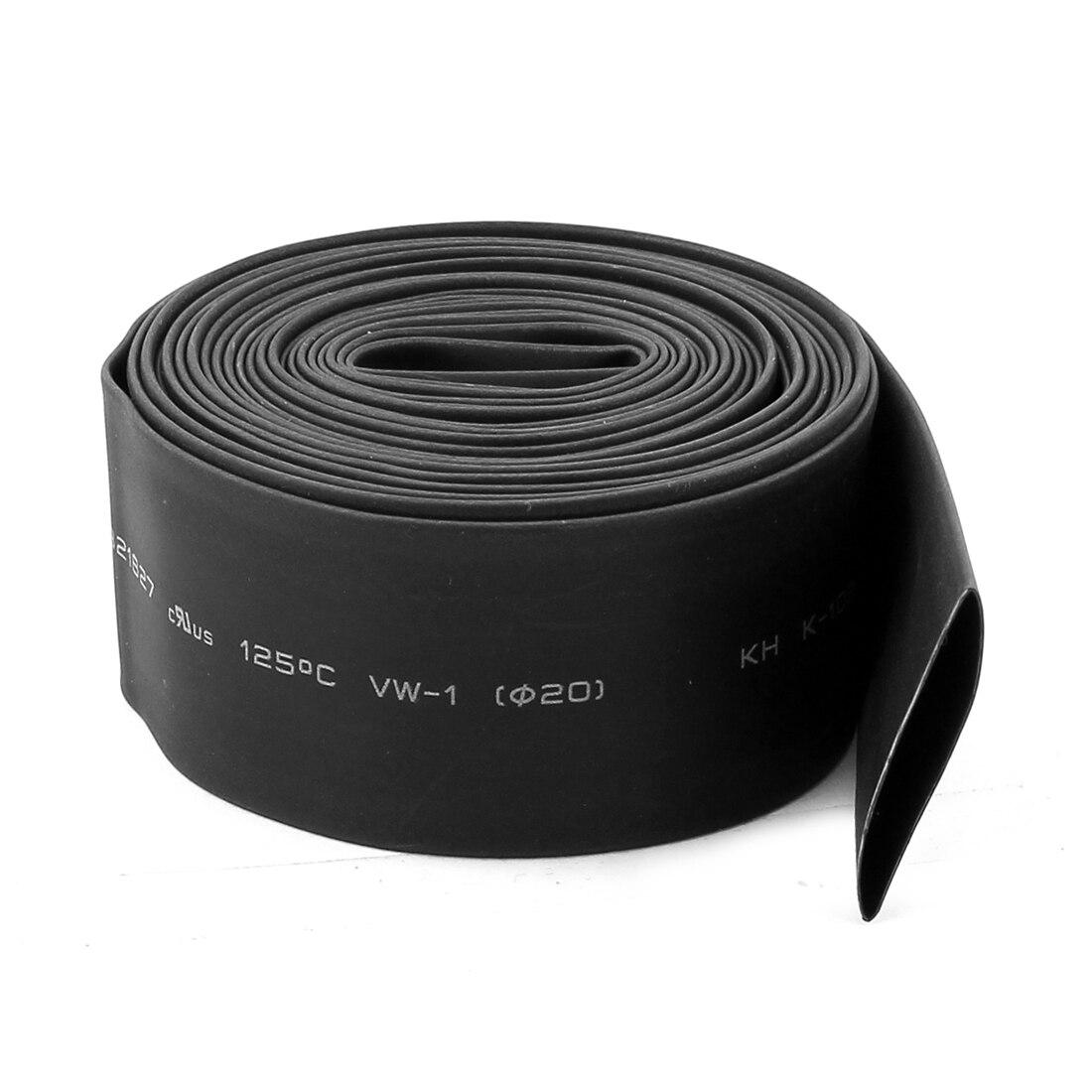 UXCELL Product Name Black 20Mm Dia 2 1 Polyolefin font b Heat b font Shrink font