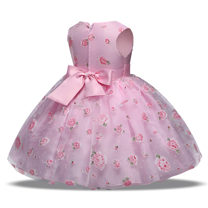 retail new style summer baby girl print flower princess girl dress