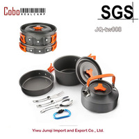 Camping Cookware Outdoor Cooking Mess Kit Portable Lightweight Pots Pans Water Kettle Set for Backpacking Hiking Trekking Picnic