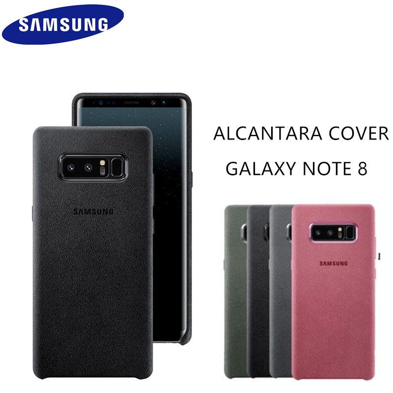 huge selection of 4eafe 22847 US $13.37 36% OFF|Original GENUINE Samsung Galaxy Note 8 SM N950F Alcantara  Phone Case Mobile Phone Back Leather Cover Fundas Coque Anti knock-in ...