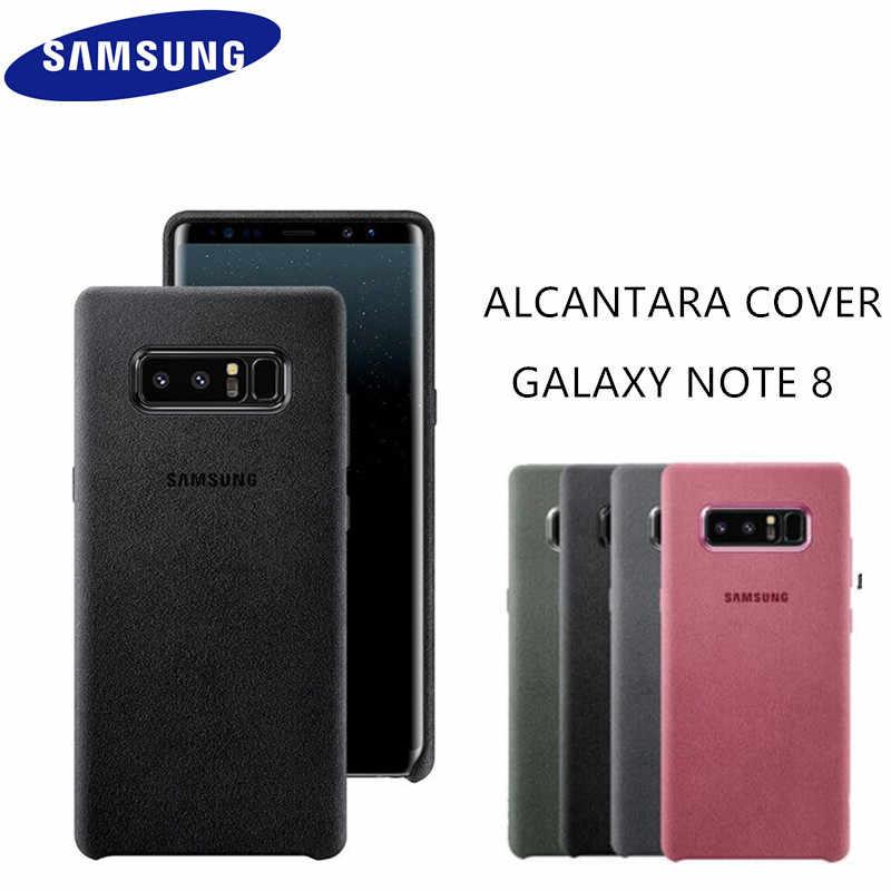 Оригинальный оригинальный samsung Galaxy Note 8 SM-N950F Алькантара чехол для телефона мобильный телефон задняя кожаная крышка Fundas Coque противоударный