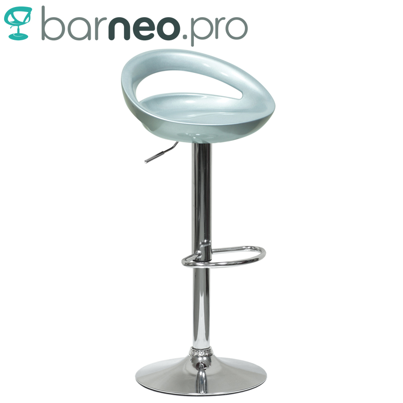 huge discount 6703d d2e06 US $50.77 |94341 Barneo N 6 Plastic High Kitchen Breakfast Bar Stool Swivel  Bar Chair silver free shipping in Russia-in Bar Stools from Furniture on ...