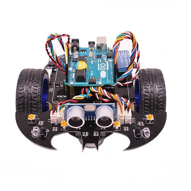 YahBoom Intelligent Chauve-Souris Robot Programmation Intelligente Bluetooth Contrôle Voiture Kit avec pour Arduino UNO R3 Pour Enfants Science Éduquer