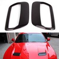 Для Ford Mustang 2018 2019 Ecoboost GT350 GT Coupe углеродного волокна капюшон вентиляционное отверстие розетки решетка облицовки радиатора поток воздуха впус