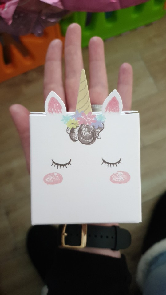 Unicorn DIY Candy Paper Box Party Decorations photo review
