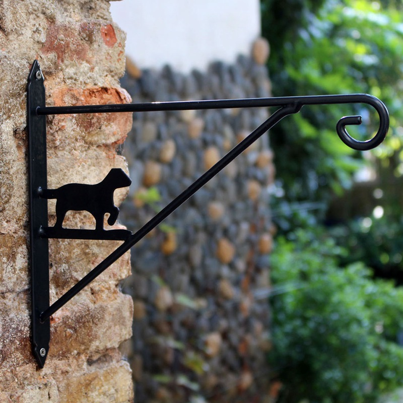 Wall Mounted Garden Plant Hanger Flowers Lantern Hook Balcony Outdoor  Holder European Style Animal Modeling Flower