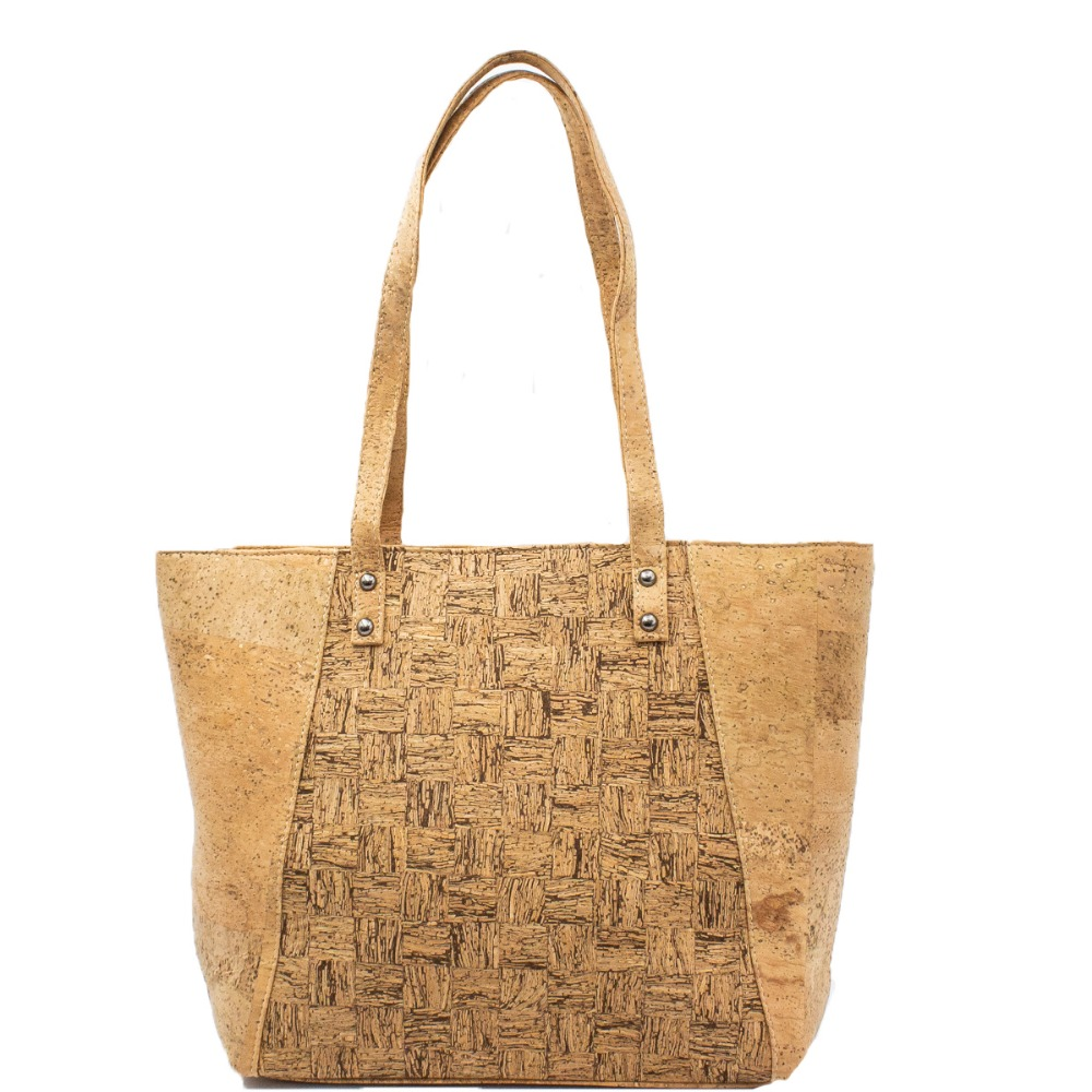 все цены на Cork bags cork handbag for women Natural cork with Squared pattern grain Handmade original cork bag BAG-319-C онлайн