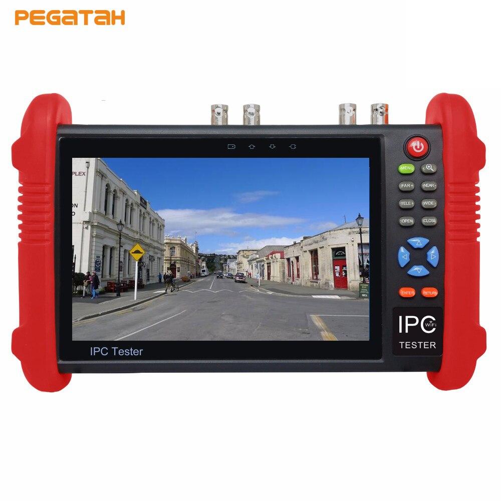 7 inch 8MP TVI /CVI 5MP AHD 5MP IP CCTV Tester AHDTester IP Tester TVI Tester With PTZ controler wifi HDMI out