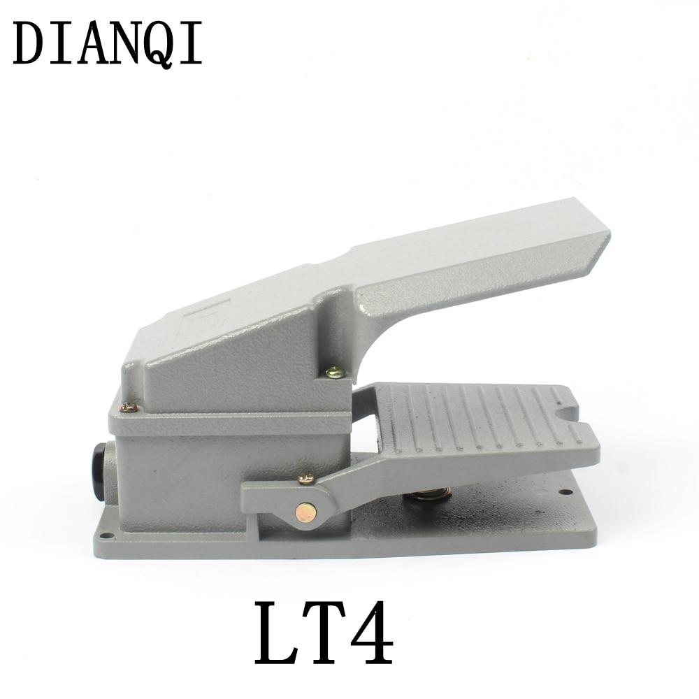 DIANQI LT4 Foot Switch Pedal Switch 5A AC 380V 15A AC 250V Material Aluminum LT4 цена и фото