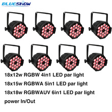 8pcs/lot, LED par 18x12W RGBW 4in1 Quad Light party led spotlight dj projector led wash lighting stage equipment dmx стоимость