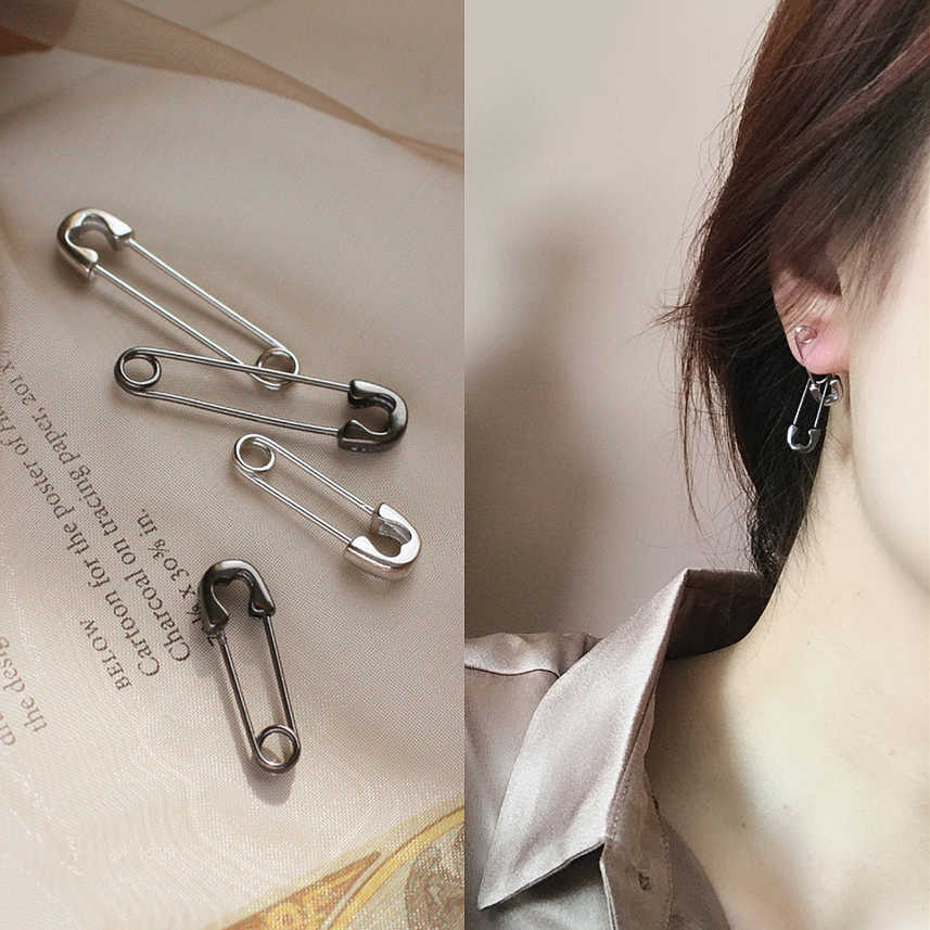 1 Piece 925 Sterling Silver Personality Hipster Pin Hip Hop Pin Earrings For Both Men And Women