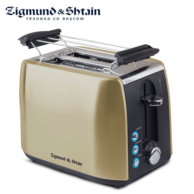 Zigmund & Shtain ST-86 Toaster Household Automatic Bread Toaster Baking Breakfast Machine Stainless steel 2 Slices Bread Maker sandwich makers philips bread household baking 2 slices slots for breakfast toast machine automatic zipper