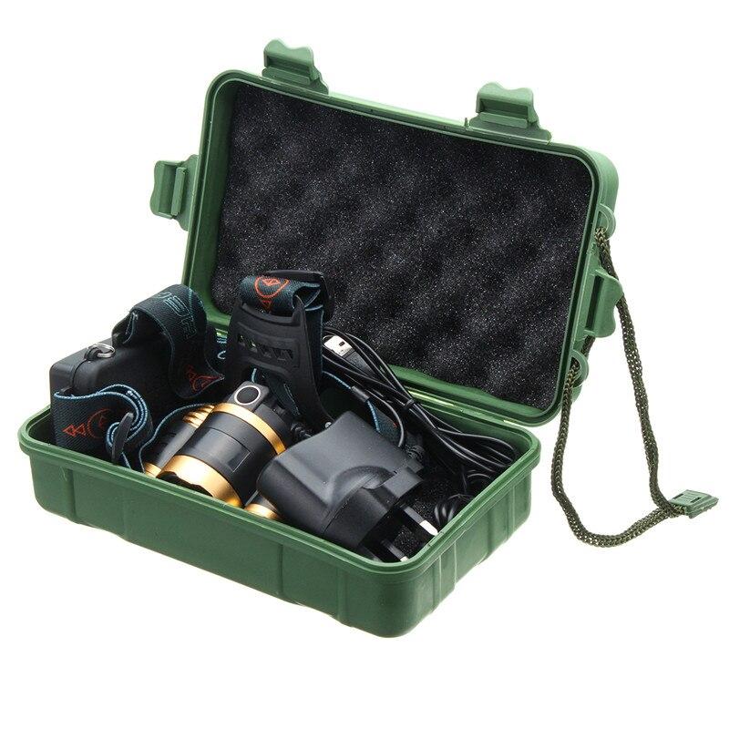 Przenośna plastikowa latarka o dużej mocy 18650 bateria litowa chroniony futerał do przechowywania Box na latarkę LED latarka czołówka