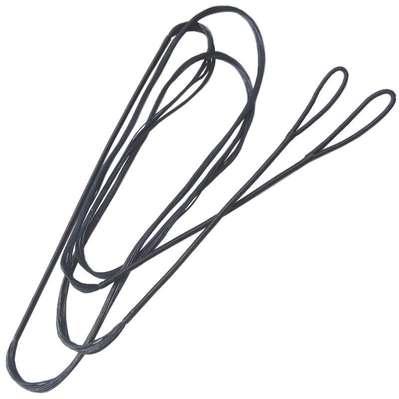68-инчни стреличарски лук низ 16 трака Дацрон Бов црна замена тетива за лов и спољашње снимање