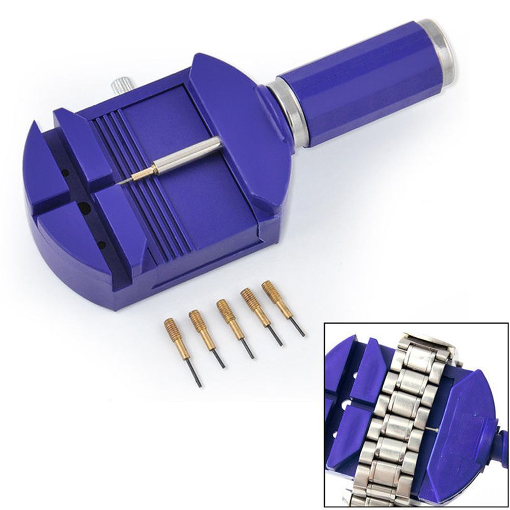 цена на Bracelet Wrist Watch Band Adjuster Repair Tool Set Link Strap Remover + 5 Pins