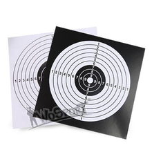 WoSporT 14x14 cm Black White Outdoor BB Gun Airsoft Paintball Archery 100pcs Papers