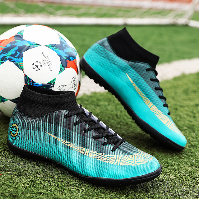1fddeb03f FANCIHAWAY Men Soccer Shoes Turf Superfly VI High Ankle Futsal Kids  Football Boots Athletic Training Cleats Sports Sneakers-in Soccer Shoes  from Sports ...