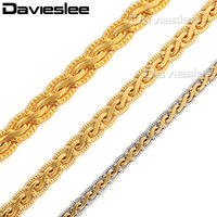 3mm 18K Yellow Gold Filled Necklace Flat Hammered Wheat Necklace Mens Chain Fashion Jewelry Wholesale 18