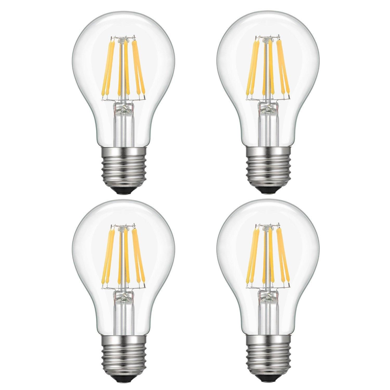 Kohree 4 Packs Dimmable 6w A19 Led Edison Light Bulb 110v