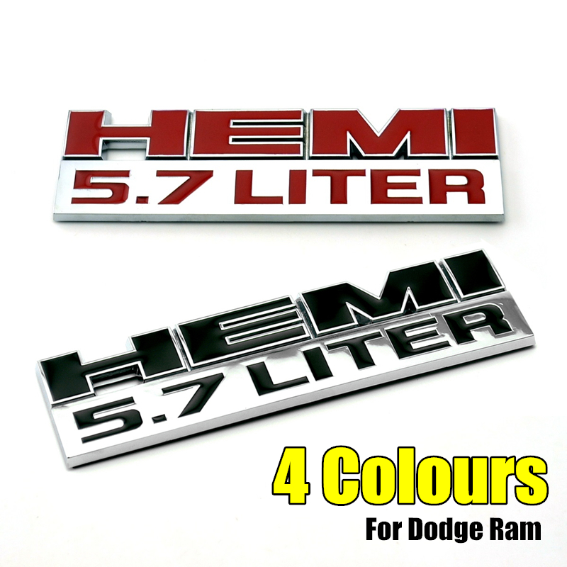 2pcs 392 Emblem Badge Decal 3D Nameplate Logo for Dodge