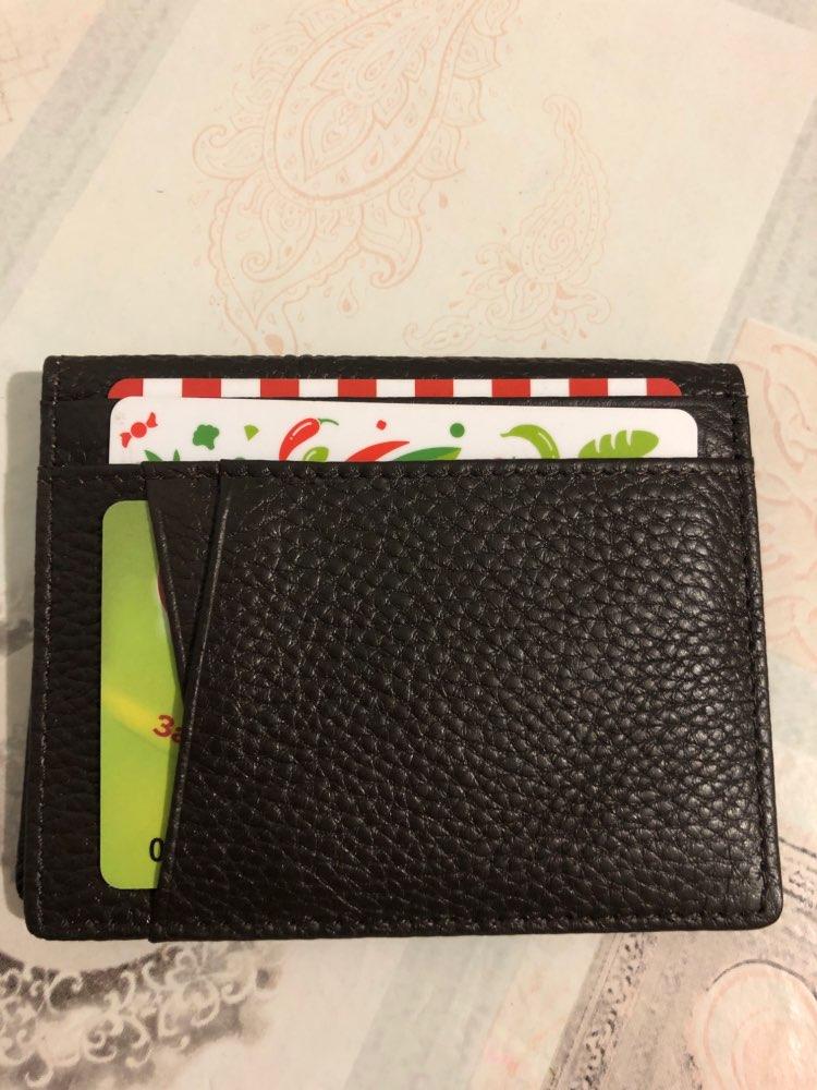 Super Slanke Zachte Portemonnee 100% Schapenvacht Lederen Mini Creditcard Portemonnee Portemonnee Kaarthouders Mannen Portemonnee Dun Klein photo review