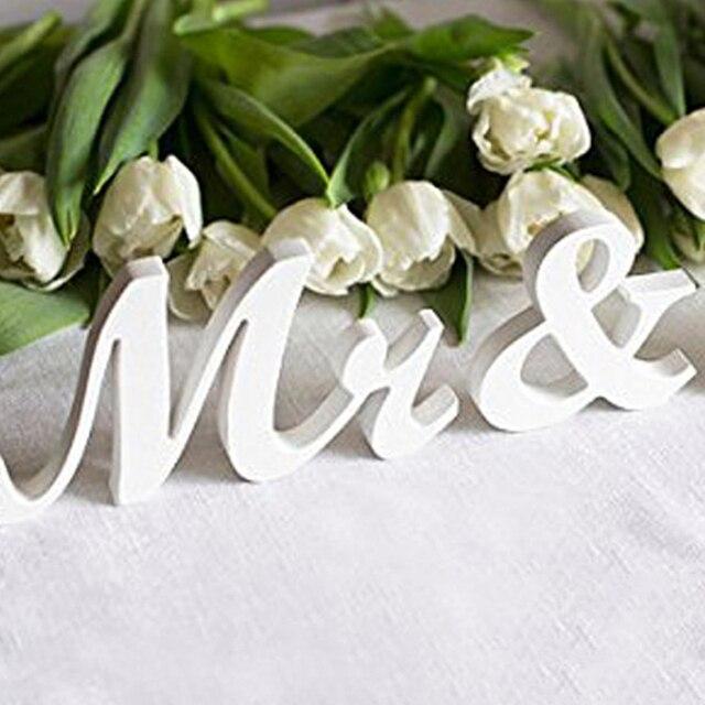 Dekorative Buchstaben Seufzen Center Venue Empfang Hochzeit Tisch